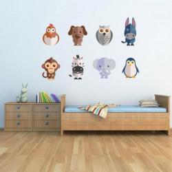 WALL IMPACT Stickers Animaux - 62x40x1 cm - Vinyle calandré