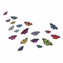 WALL IMPACT Stickers Papillons avec ailes colorées - 59x40x1