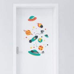 WALL IMPACT Stickers Space ships - 40x60x1 cm - Vinyle calan