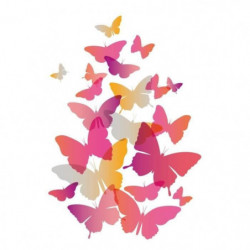 WALL IMPACT Stickers Papillons roses - 40x58x1 cm - Vinyle c
