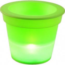 HOMEA Pot Lumineux En Plastique A Piles + 1Led O16*H13Cm Ver