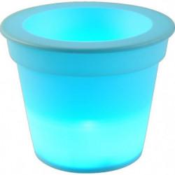 HOMEA Pot Lumineux En Plastique A Piles + 1Led O16*H13Cm Ble