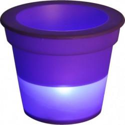 HOMEA Pot Lumineux En Plastique A Piles + 1Led O16*H13Cm Pru