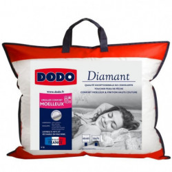 DODO Oreiller confort moelleux DIAMANT - 50x70 cm - Passepoi
