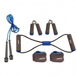 AVENTO Pack fitness 6 pieces - Bleu