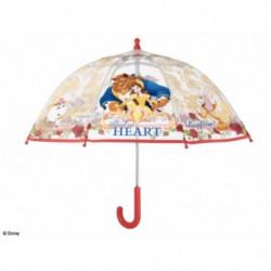 DISNEY Parapluie la Belle et la Bete - Transparent