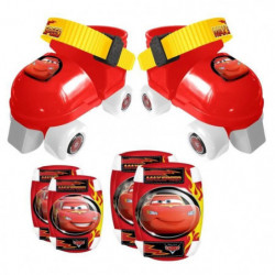 CARS Set Patins a Roulettes ajustables 23 a 27 et Protection