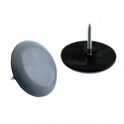Lot de 8 Patins glisseur a pointe - Ø 22 mm - Gris