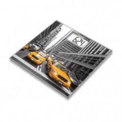 BEURER - GS 203 - Pese-personne en verre - motif New York -