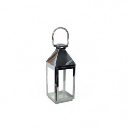Lanterne en métal - 15 x 15 x H.39 cm - Noir