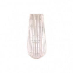 GM Lanterne bande de bois - 56 cm - Blanche