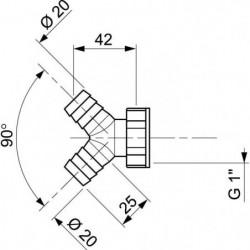 WIRQUIN Té 2 prises SP9435 - Pour machine a laver