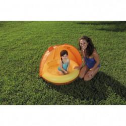 BESTWAY Piscinette et couverture UV Careful Orange - 97 x 10