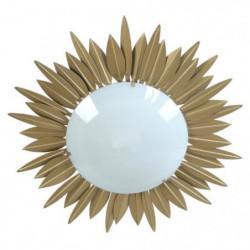 SOLEIL Plafonnier feuilles soleil verre opale - 45x45x13 cm