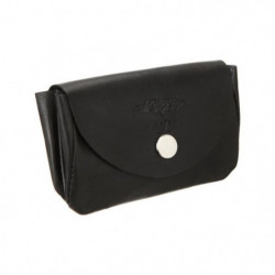 SAFARI Porte-monnaie Souple - Cuir - 11x7,5 cm - Noir