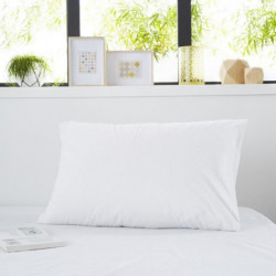 SWEETNIGHT Protege-oreiller bouclette SIMON 50x70 cm - Blanc