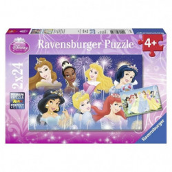 DISNEY PRINCESSE Puzzle Princesses réunies 2x24pcs