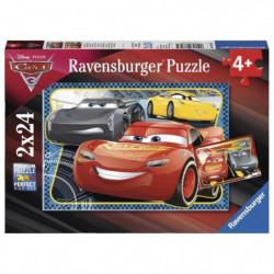 CARS Puzzle 2x24 pcs A l'Aventure avec Flash McQueen - Disne