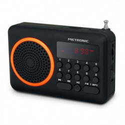 MET 477204 Radio portable FM Orange