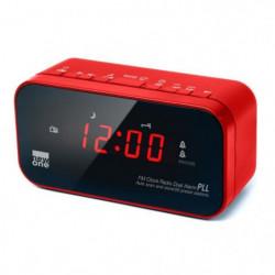 NEW ONE CR 120 R Radio réveil double alarme Rouge