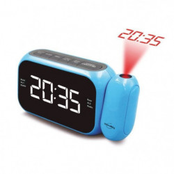 INOVALLEY RP211C Radio réveil projecteur Bleu