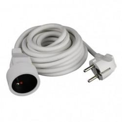 ZENITECH Rallonge électrique 1m90 3x1mm² blanc