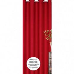 Rideau occultant rouge 140x260cm