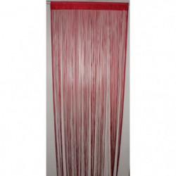 BRISE Rideau de Fils Mercerisés - Rouge - H 90 x L 240 cm