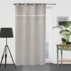 SOLEIL D'OCRE Rideau brodé en coton - Secret - 135x250 cm -