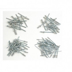 MANNESMANN Lot de 600 rivets - Ø 2,4 / 3,2 / 4,0 / 4,8 mm