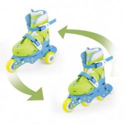 FUNBEE Rollers inline 2 en 1 (3 roues) coloris bleu pour enf