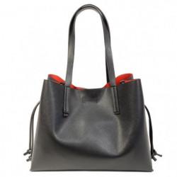 KINSTON Sac Shopping Black and Chic Noir Femme