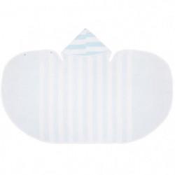 BABYCALIN Drap de bain a capuche - Bleu aqua et blanc - 117