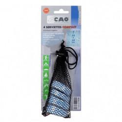 CAO CAMPING Lot de 4 Serviettes compactes - 50 x 30 cm