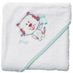 BABYCALIN Cape de bain Chat - 80 x 80 cm