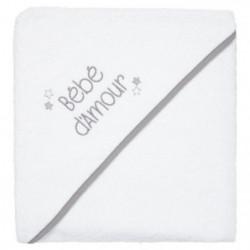 BABYCALIN Cape de bain Bébé d'amour - 100 x 100 cm