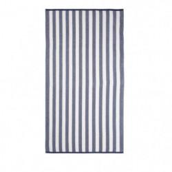 JULES CLARYSSE Drap de plage velours Splash Bleu - 90x170cm