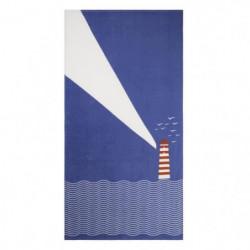 JULES CLARYSSE Drap de plage imprimé Seaside - 100% coton -
