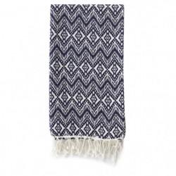 TODAY Fouta CYCLADES 100x190 100% coton Bleu et blanc