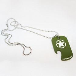 Décapsuleur Collier Call of Duty : Dog Tag - Vert