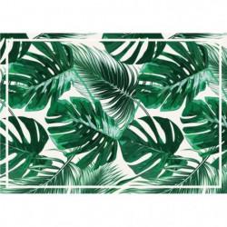 Set de table vinyle - 35 x 49,5 cm - Vert