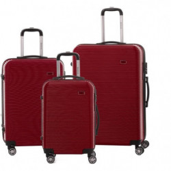 BERENICE Lot de 3 Valises Trolley Rigide ABS - 8 Roues - 50-
