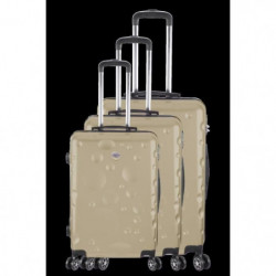 FRANCE BAG Set de 3 Valises 8 roues abs/polycarbonate Champa