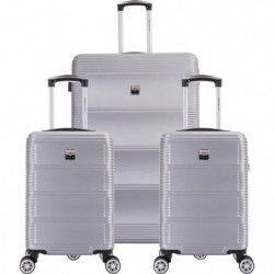 FRANCE BAG Set de  3 Valises ABS Argent
