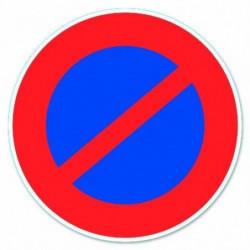 """Disque de signalisation """"Stationnement interdit"""" - PVC adhés"""