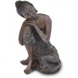 ZEN LIGHT Statue Bouddha Thai Penseur - Marron