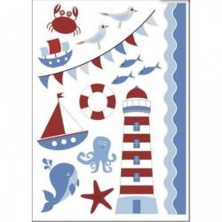 PLAGE Sticker déco - Mer enfant 1 Planche 48 x 68 cm