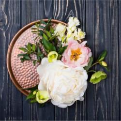 ARTIS Tableau déco Glassart Floral - Impression sur verre mi