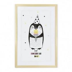 TANUKI Cadre décoratif Pingouin My sweedest day- 60x40 cm