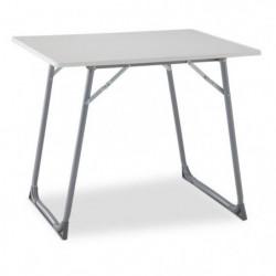 EREDU Table Pliante camping 706S - 80 x 60 cm - Gris et Blan